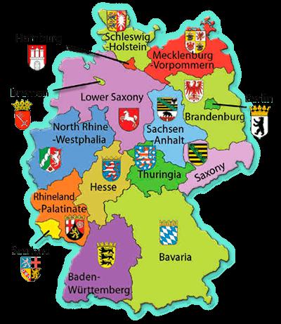 Mapa Nemecko Dobrodružstvo