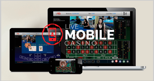 Croupiers en direct - Smartphone