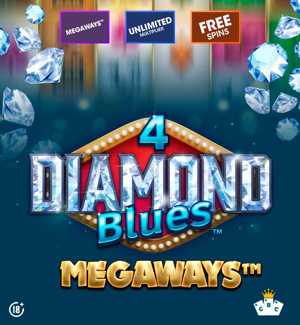 Nouveau jeu : 4 Diamond Blues™ Megaways™