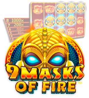 9 Masks of Fire™ zu dir gebracht von Microgaming